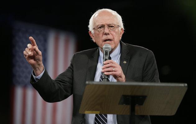 Democratic presidential candidate Sen. Bernie Sanders, I-Vt., speaks during the Iowa Democratic Party's Jefferson-Jackson Dinner, Saturday, Oct. 24, 2015, in Des Moines, Iowa. (AP Photo/Charlie Neibergall)
